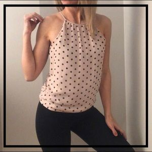 💥5 FOR $35💥 EXPRESS Brown Polka Dot Blouse